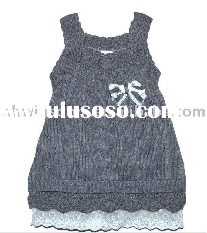 2011 newest style girls' lovely knitting dresses