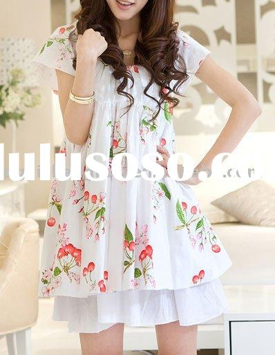 Ladies' Fashion New Printed Cotton Mini Dress