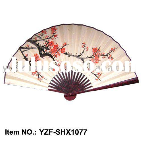 Oriental culture/ Chinese paper fan with free-style painting