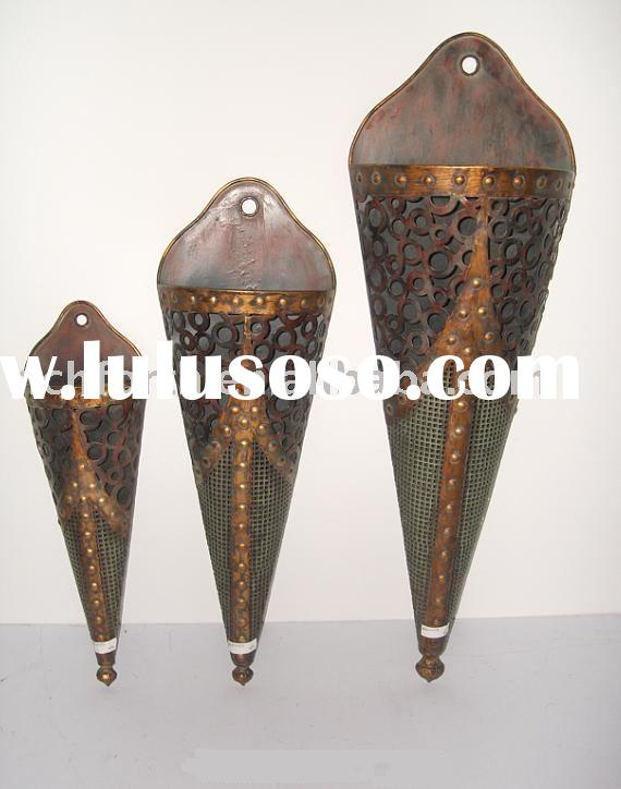 Sell antique craft,flower vase,festival gift,metal vase,wall hanging,metal crafts,home decoration,RP