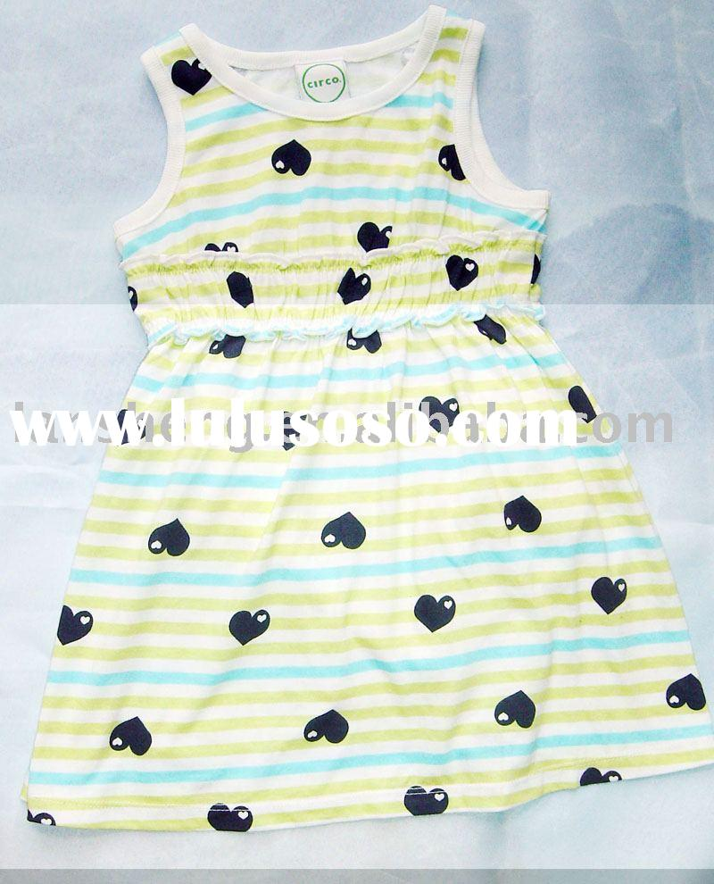 baby full print knitted girl dress,baby clothing