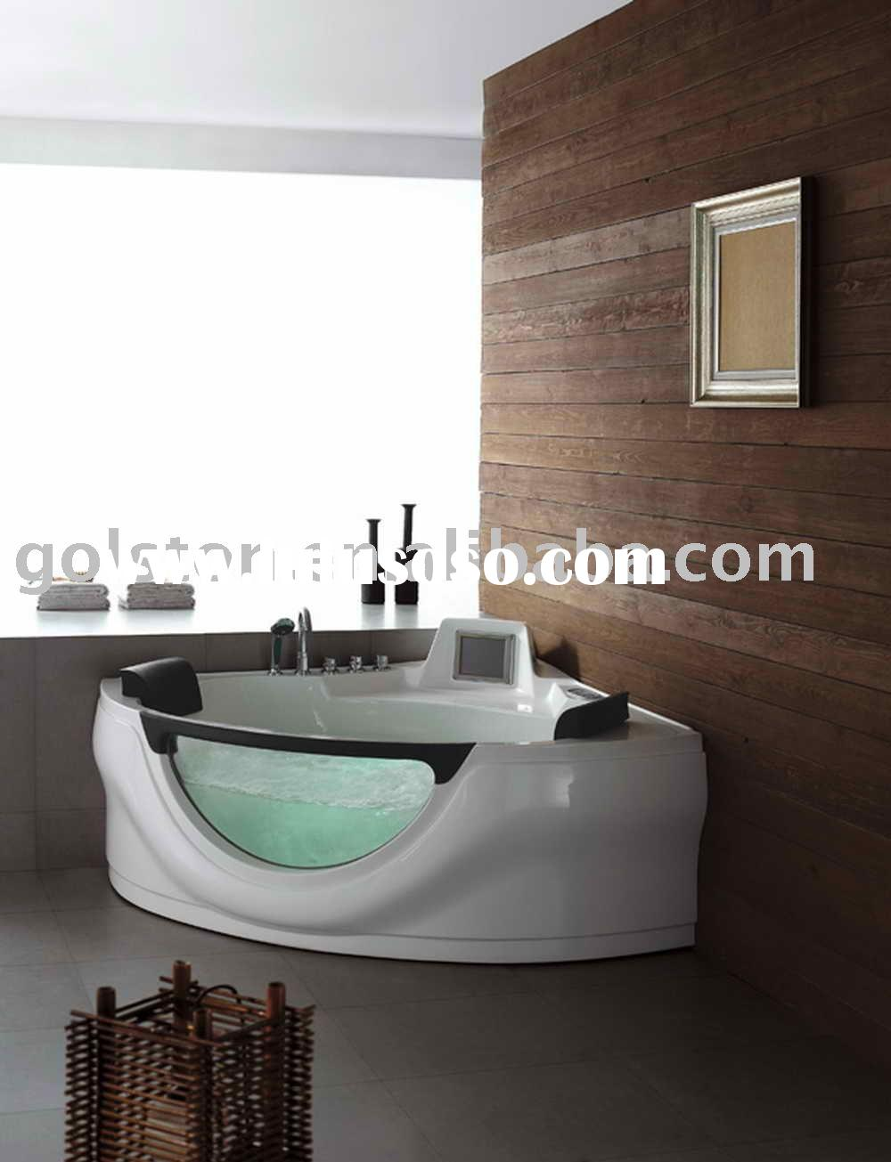 bathtub with TV and whirlpool