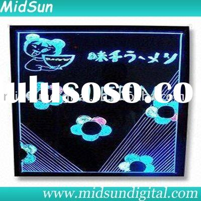 magic led writing board,led writing board glass,led plexiglass board