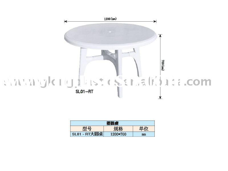 plastic table,round table
