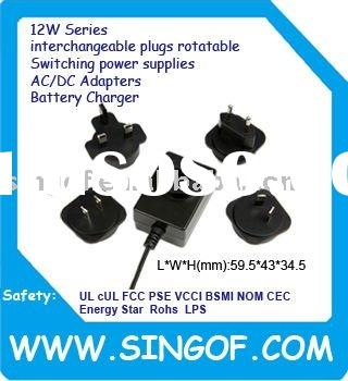 15V0.8A GFP121DA-150080B-1 Interchangeable Plugs Rotatable Switching power supplies Chargers adapter