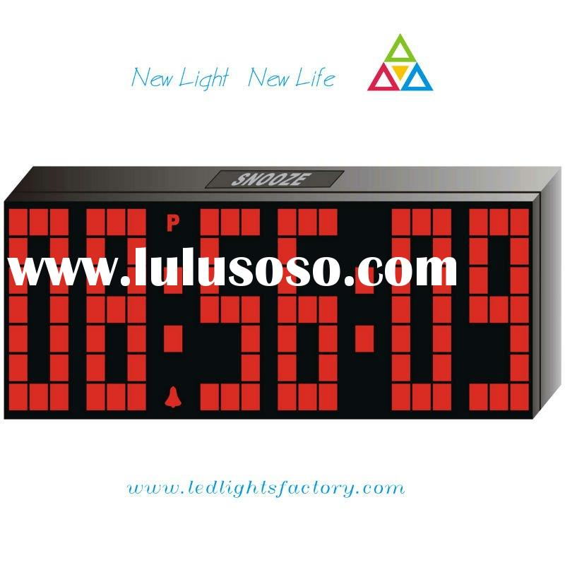 2011 new hot sale fashion red led wall clock