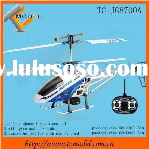 2.4G 3 Chanel Remote control toy helicopter video camera with memory card