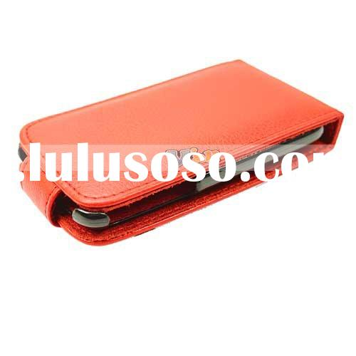 For iPhone 3G Leather Case(Red Flip)
