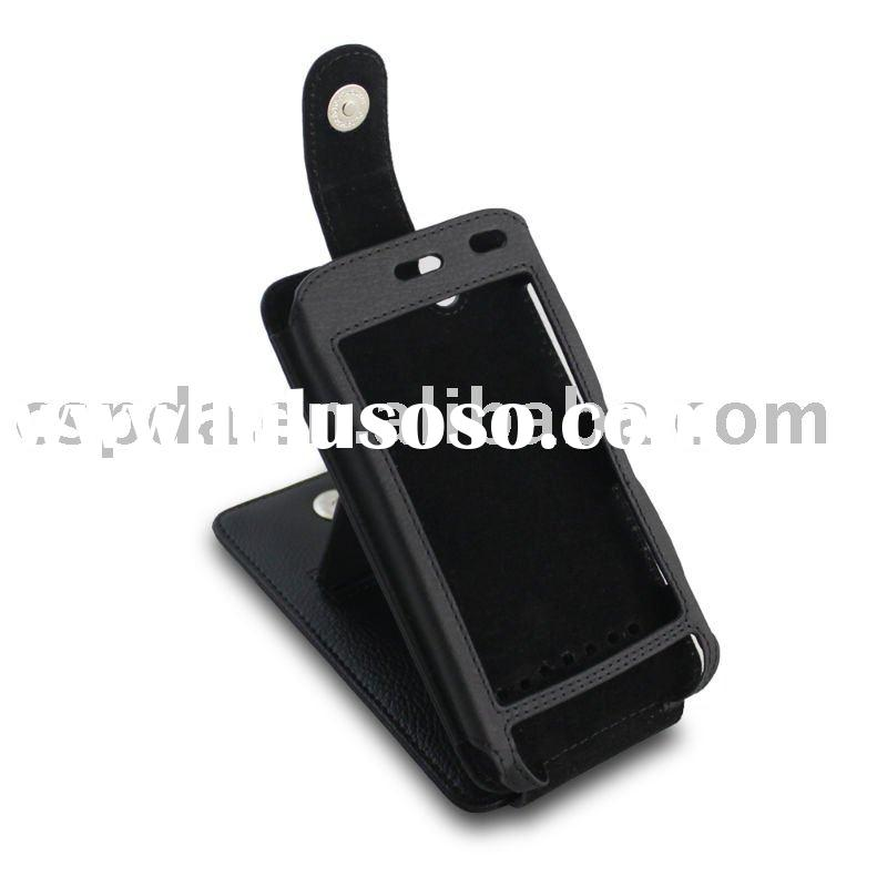 HOT SELLING black stand leather case for Dell Streak