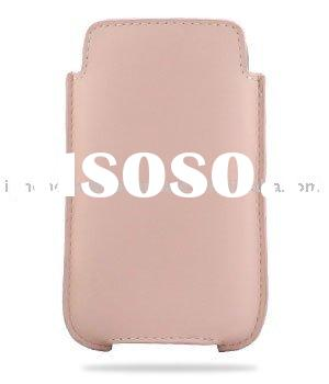 Leather Case for Apple iPhone 3GS/3G - Vertical Pouch Holder Type (Pink)