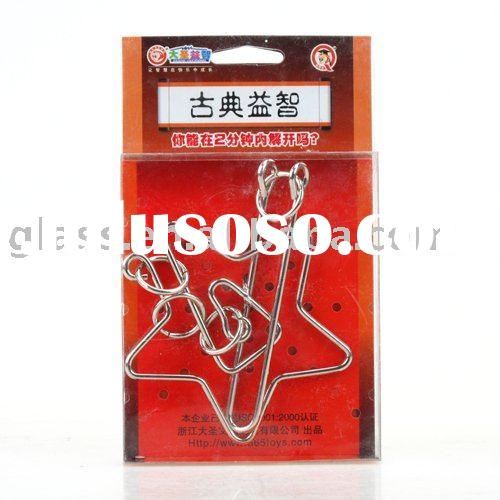 Metal Wire Iron Brain Teaser IQ Puzzle Mind Game Toy
