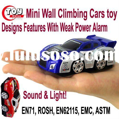 Mini RC  Wall Climbing Cars toy Come in 2 Designs Features With Weak Power Alarm Sound & Light!