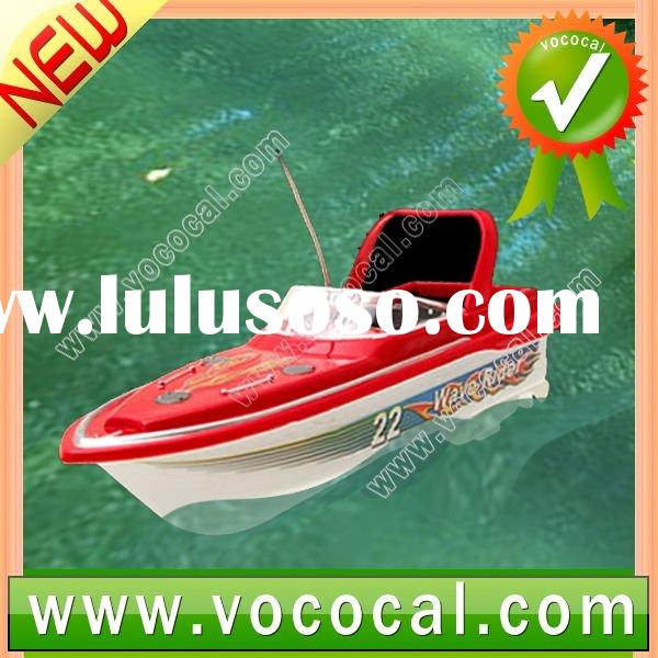 Mini Red RC Remote Control Boat Speed Toy Racing Speed