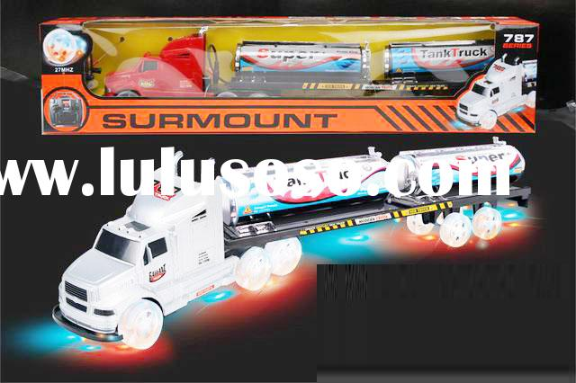 Remote Radio Control Semi Tractor Trailer Truck GLOWING ILLUMINATED 154588