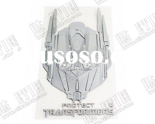 Transformers Autobots Nickel alloy thin car sticker metal logo