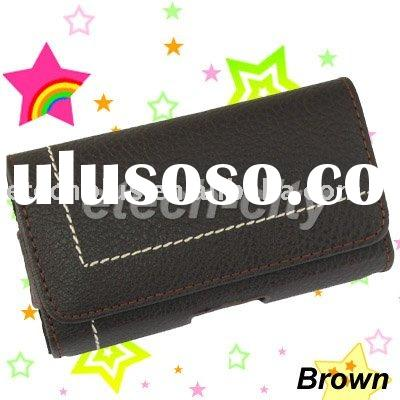 Universal Leather Case Belt Pouch for PDA / Mobile phones