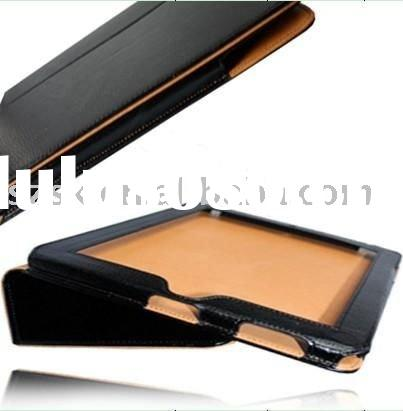 Wholesale leather case for i pad(black)