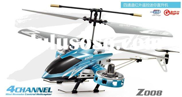 Zhengrun Z008 4ch Mini RC Toy Helicopter (Blue/Red)