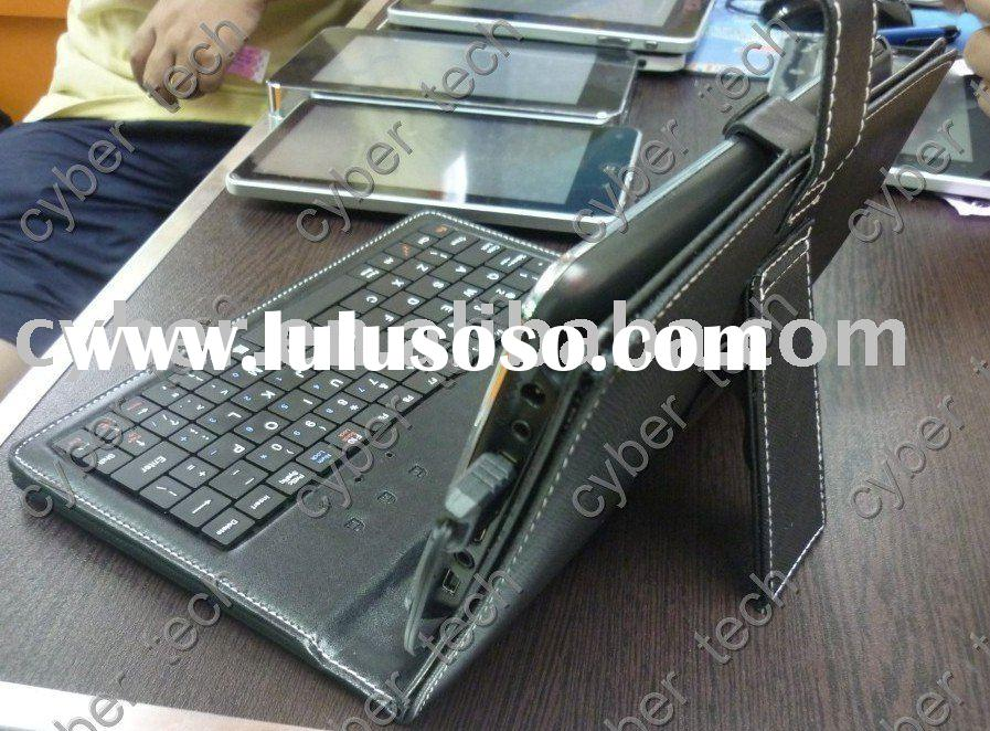 tablet pc keyboard with leather bag and free pen