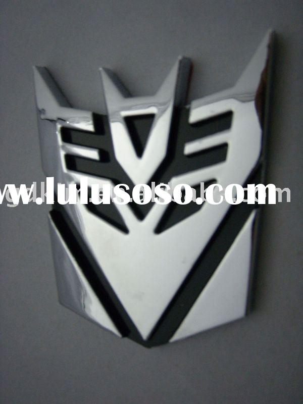 transformers car badges,emblems,logo for outo accessories