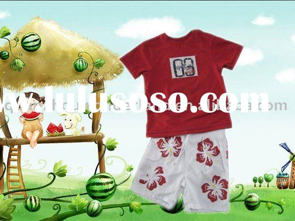 2011 hot-sale summer kids wear sets