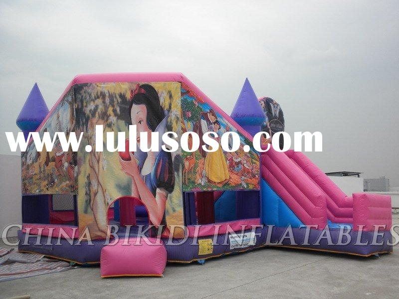 5 in 1 (bounce, climb, slide, obstacle, basketball) inflatable castle for export