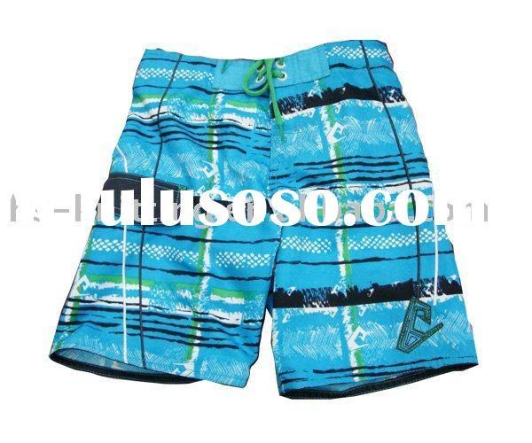 Blue printed fabric Men's Boards Shorts