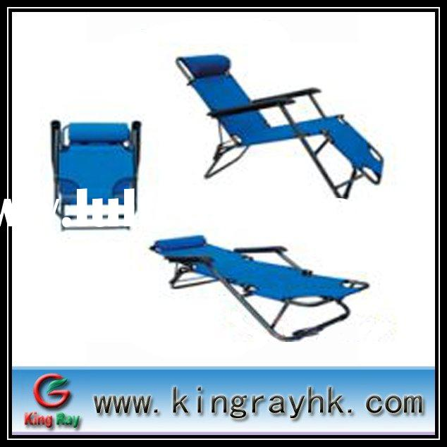 Comfortable folding recliner with power-coated steel tube