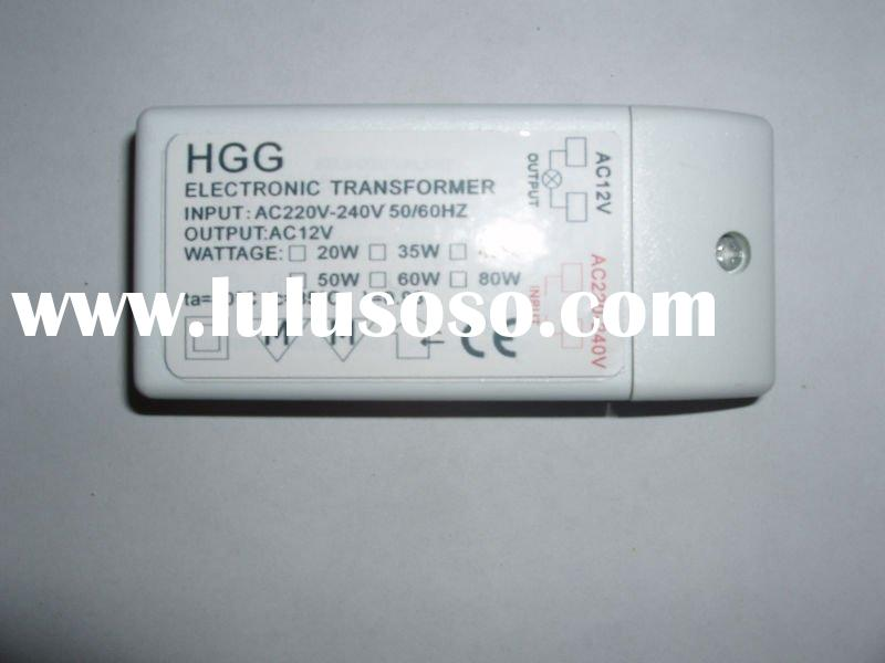 Electronic transformer for low voltage halogen lamps