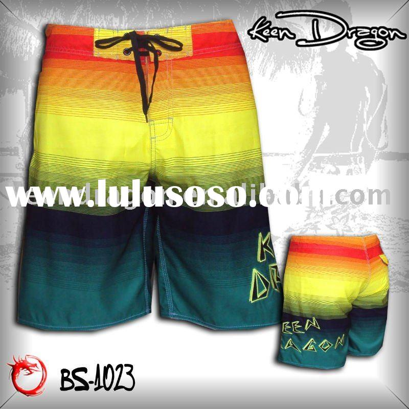Fashion apparel 100% polyester printed board shorts