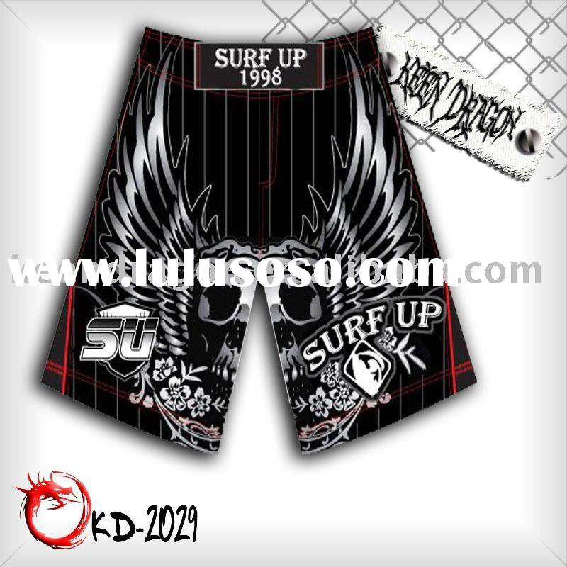 Fashion short 100% polyester microfiber double twill mma shorts
