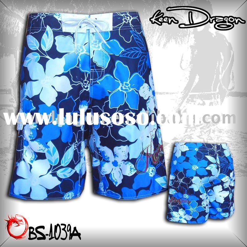 Fashion short 100% polyester printed cheap board shorts