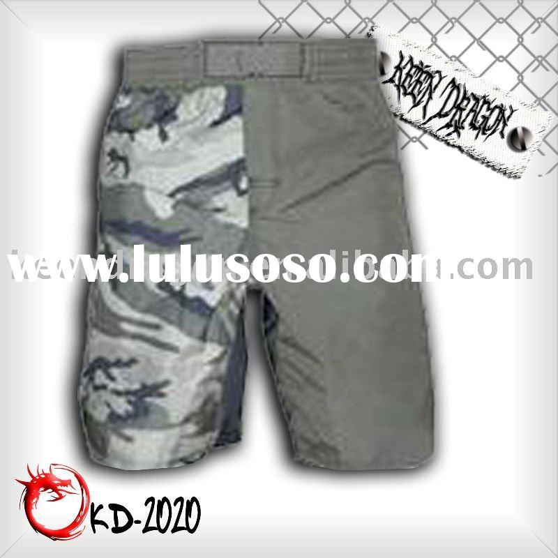 Fashion short 100% polyester printed mma shorts