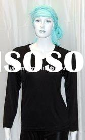 Knitted Silk under Clothes with short sleeve & high neck