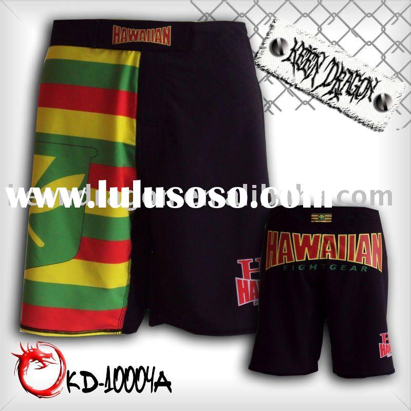MMA apparel 4-way stretch printed mma fighting shorts