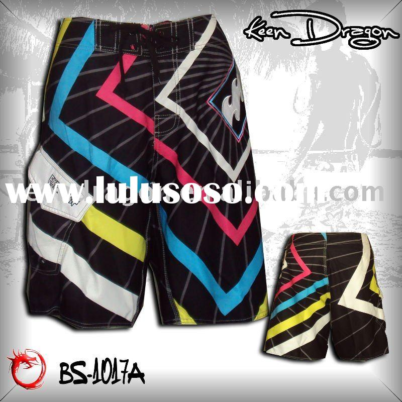 Men's surfing apparel 100% polyester printed cheap board shorts