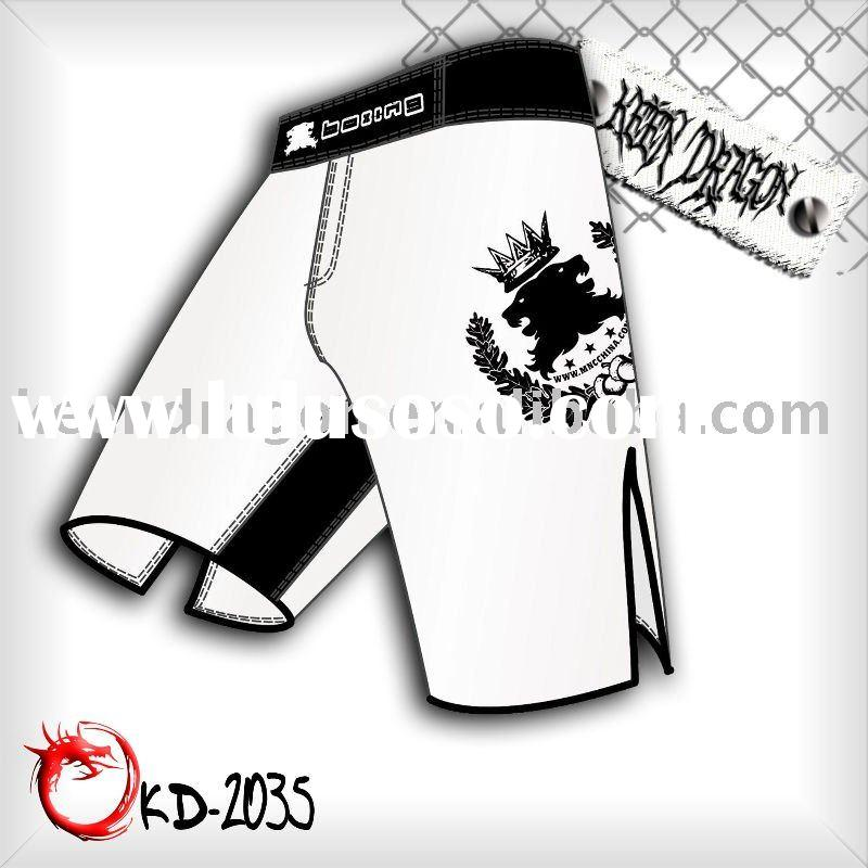 OEM Short 100% polyester printed customized mma shorts