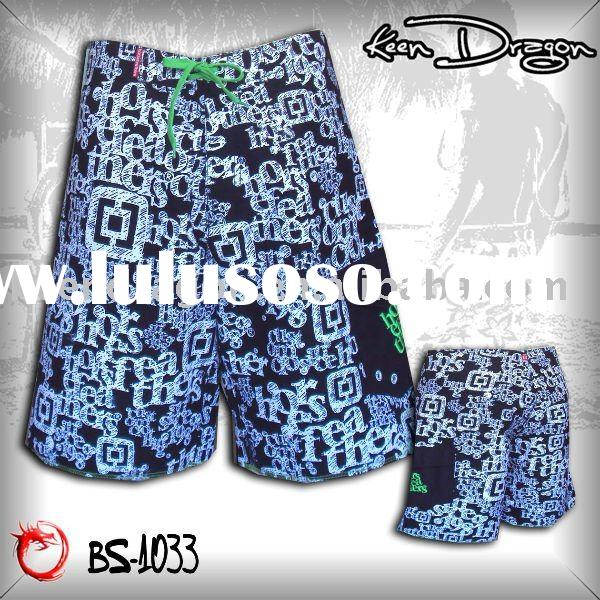 OEM apparel 100% polyester printed cheap board shorts