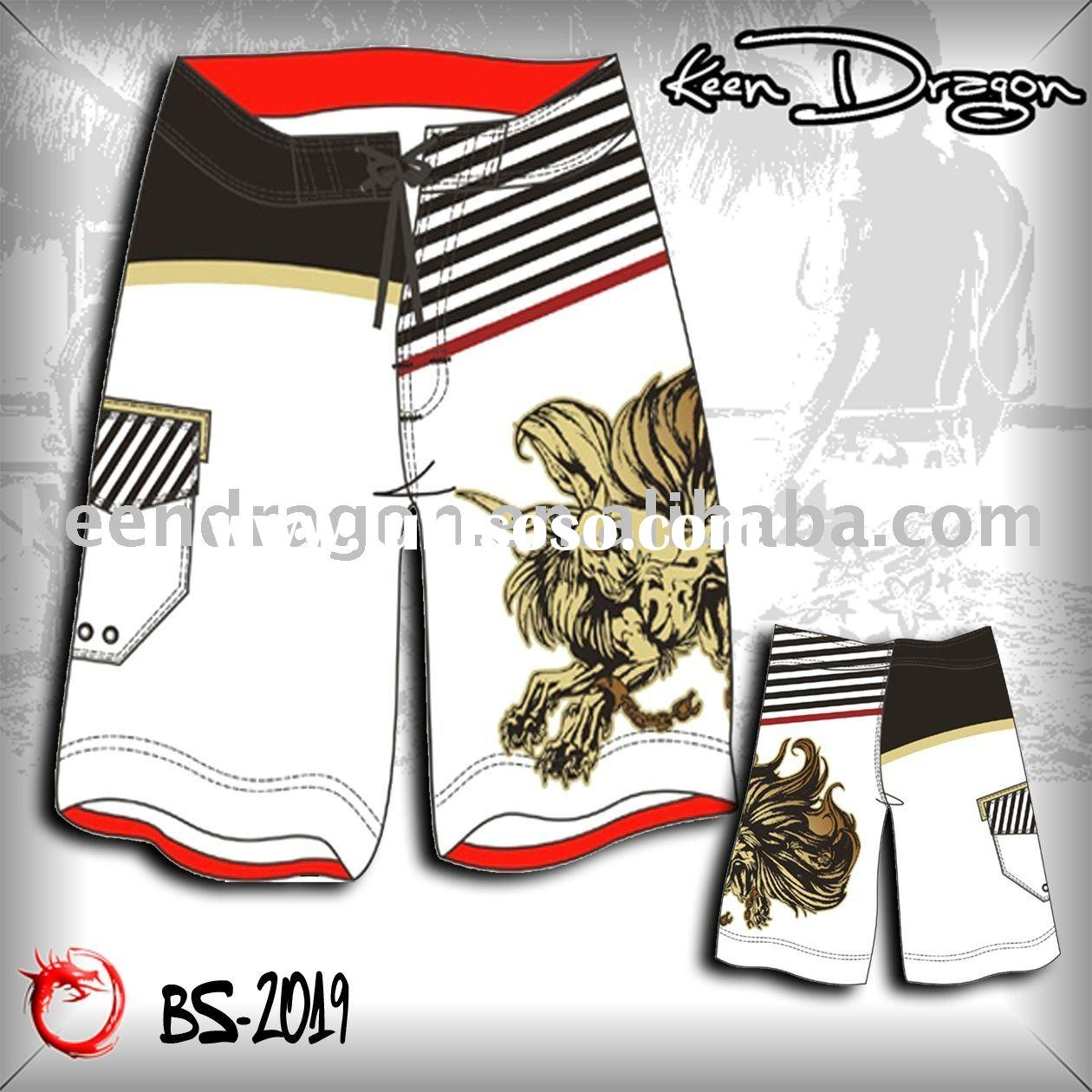 OEM fashion apparel 100% polyester printed cheap board shorts
