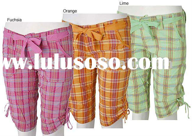 Plaid Multicolor Custom Bermuda Shorts