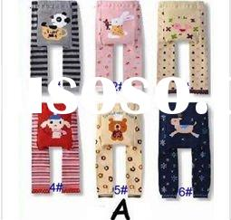 Wholesale -18pcs/lot Free Shipping - Baby Pants Baby Wear Infants Legging High quality cotton baby P
