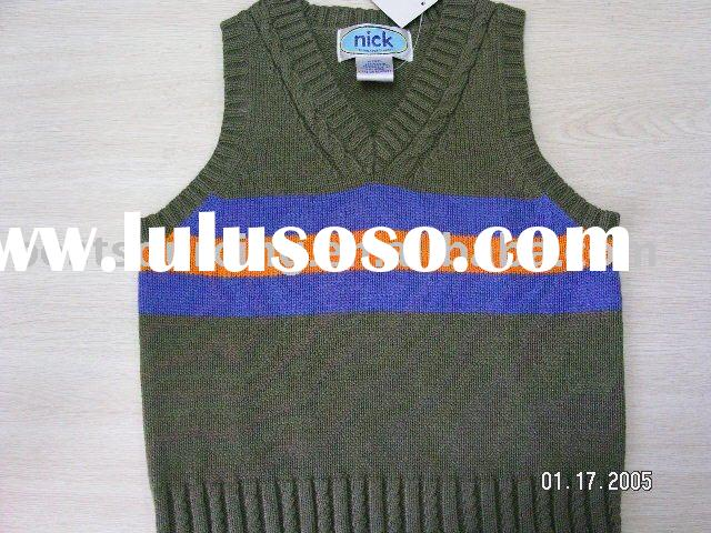 boy's clothing cotton 9gg knitted cable neck kids sweater pullover vest top BS-363