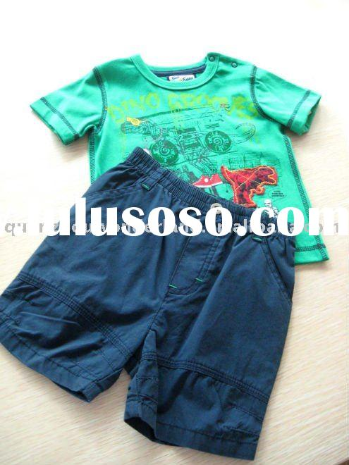 high quality kids clothes boys short sets