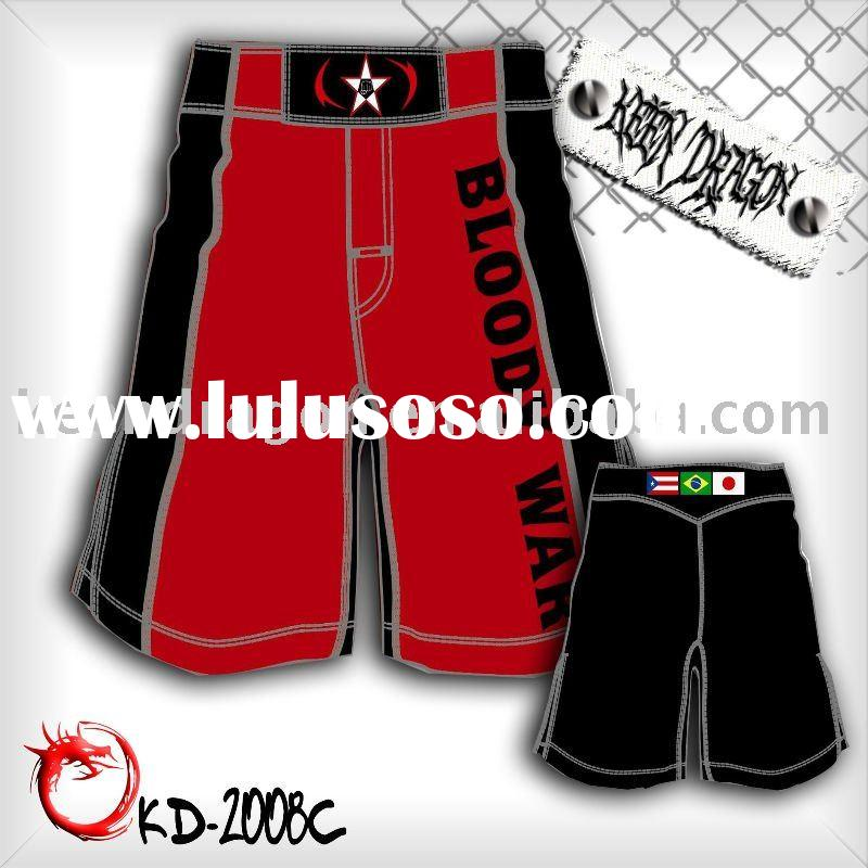 hot-sale short 4-way stretch printed customized mma shorts