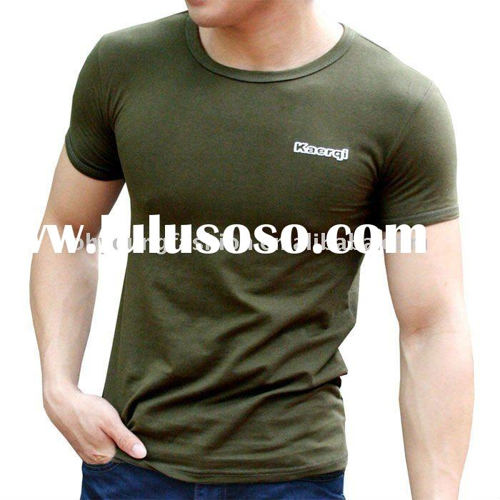 100%cotton jersey 180gsm  fashion men's blank skin tight  casual  round neck short sleeve t