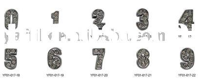 10mm slide letter charms with rhinestone