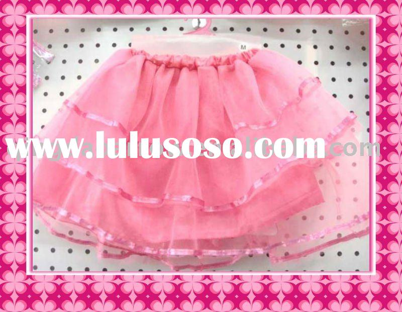2011Girls Hot Short Ballet Skirts With Lace
