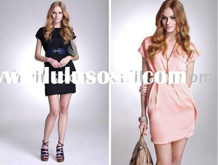 2011 newest style ladies modern fashionable chiffon short sleeve dress