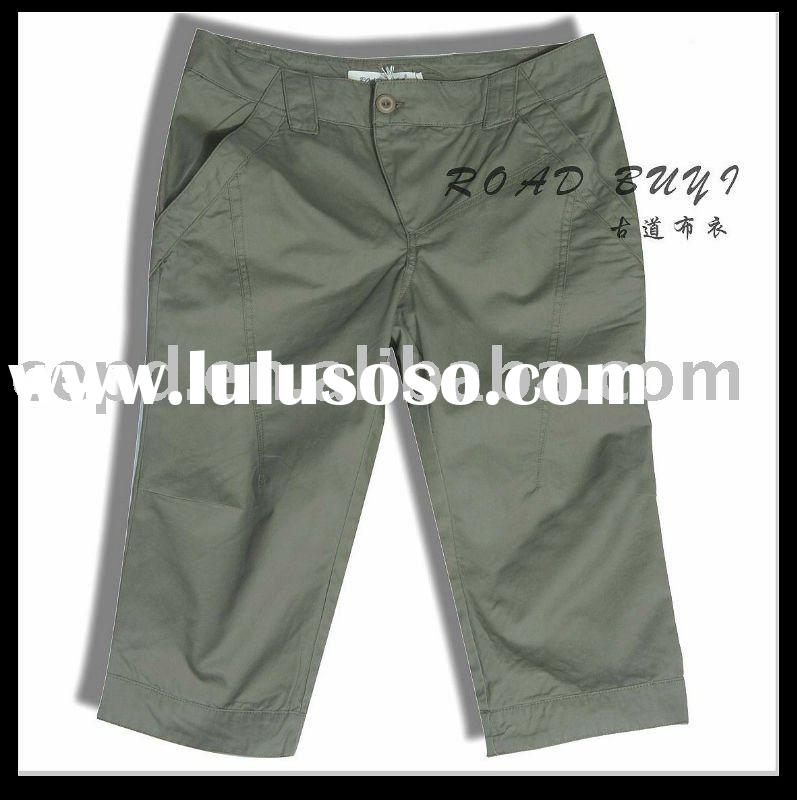 2011 summer fashion khaki shorts for women