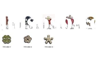 6mm slide letter charms with rhinestone